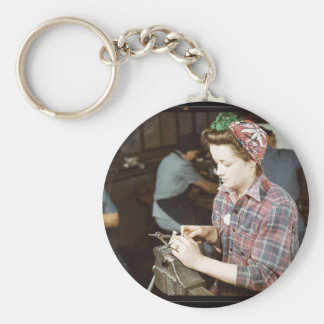 Women in the Workplace during WWII Keychain