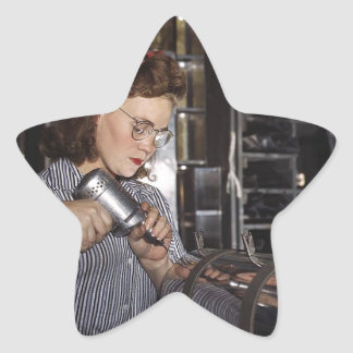 Women in the Workplace during WWII Star Sticker