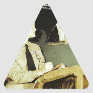 Women in the Workplace during WWII Triangle Sticker