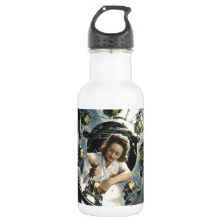 Women in the Workplace during WWII Water Bottle