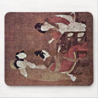 Women In Triktrakspiel By Chou Fang Mousepads
