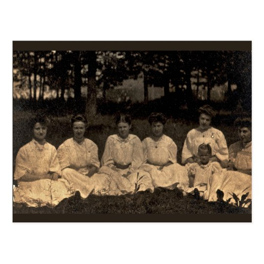 Women in White circa 1902 Postcard