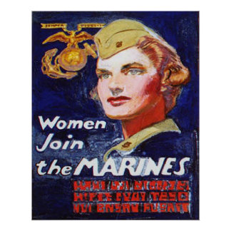Women Join the MARINES Poster