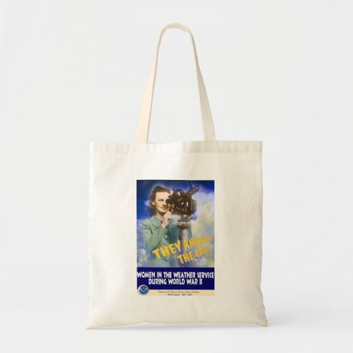 Women Joining the Weather Service WWII Tote Bags