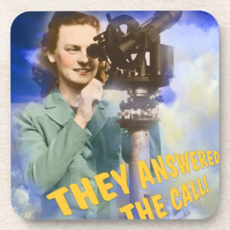 Women Joining the Weather Service WWII Beverage Coaster