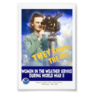 Women Joining the Weather Service WWII Photo Print