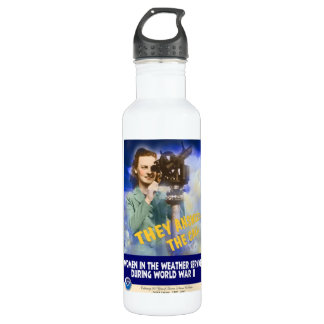 Women Joining the Weather Service WWII Stainless Steel Water Bottle
