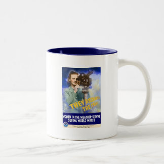 Women Joining the Weather Service WWII Two-Tone Coffee Mug