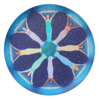Women Lighting the World Mandala Plate