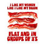 Women Like Bacon Postcard
