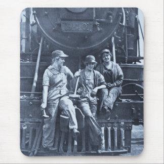 Women Locomotive Mechanics 1918 WWI Mouse Pad