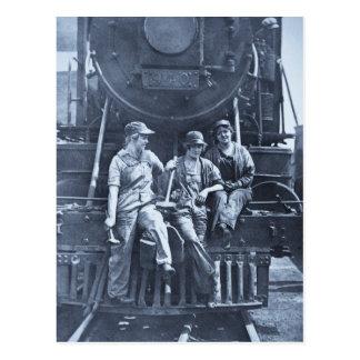 Women Locomotive Mechanics 1918 WWI Postcard