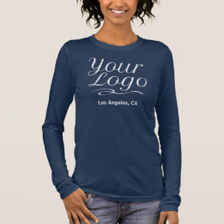 Women Long Sleeve Shirt Promotional Company Logo