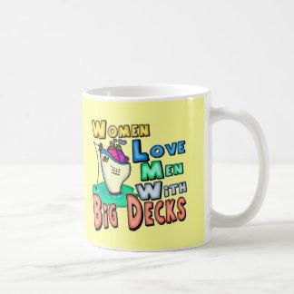 Women Love Big Decks Fishing T-shirts and Gifts Coffee Mugs