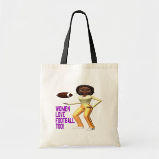 Women Love Football Too Canvas Bags