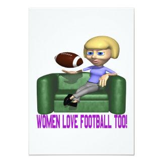 Women Love Football Too Card