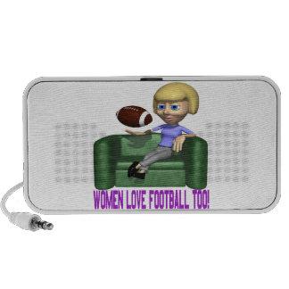Women Love Football Too Mini Speaker