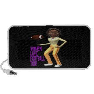 Women Love Football Too Portable Speakers