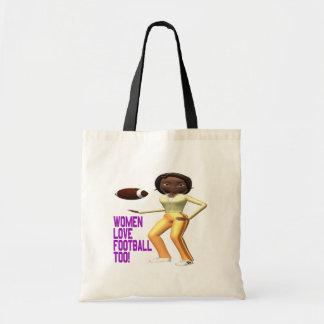 Women Love Football Too Tote Bag