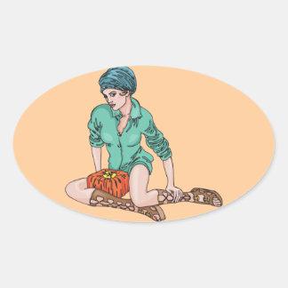 Women Love Gifts Oval Sticker