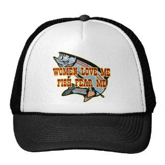 Women Love Me Fish Fear me Mesh Hats