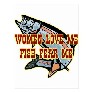 Women Love Me Fish Fear me Postcard