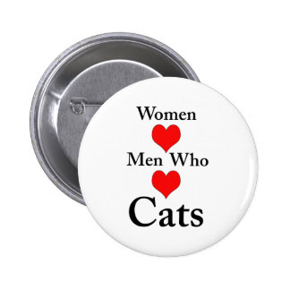 Women Love Men Who Love Cats 2 Inch Round Button