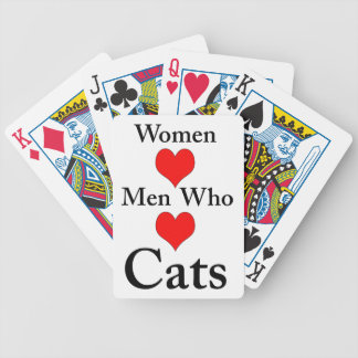 Women Love Men Who Love Cats Bicycle Playing Cards