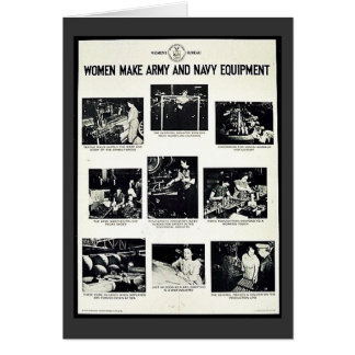 Women Make Army And Navy Equipment Greeting Card