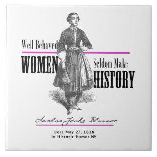 Women Making History Amelia Bloomer Tiles