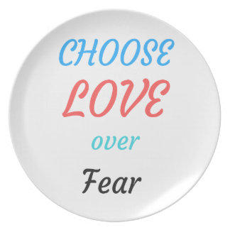 WOMEN MARCH CHOOSE LOVE OVER FEAR MELAMINE PLATE