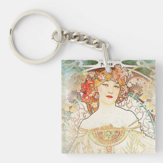 Women Mucha Keychain