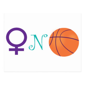 Women-N-Basketball Postcard