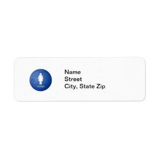 Women, NameStreetCity, State Zip Label