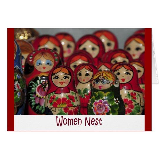 Women Nest, Russian Nesting Dolls Card