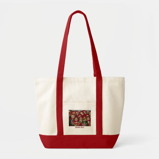 Women Nest, Russian Nesting Dolls Tote Bag