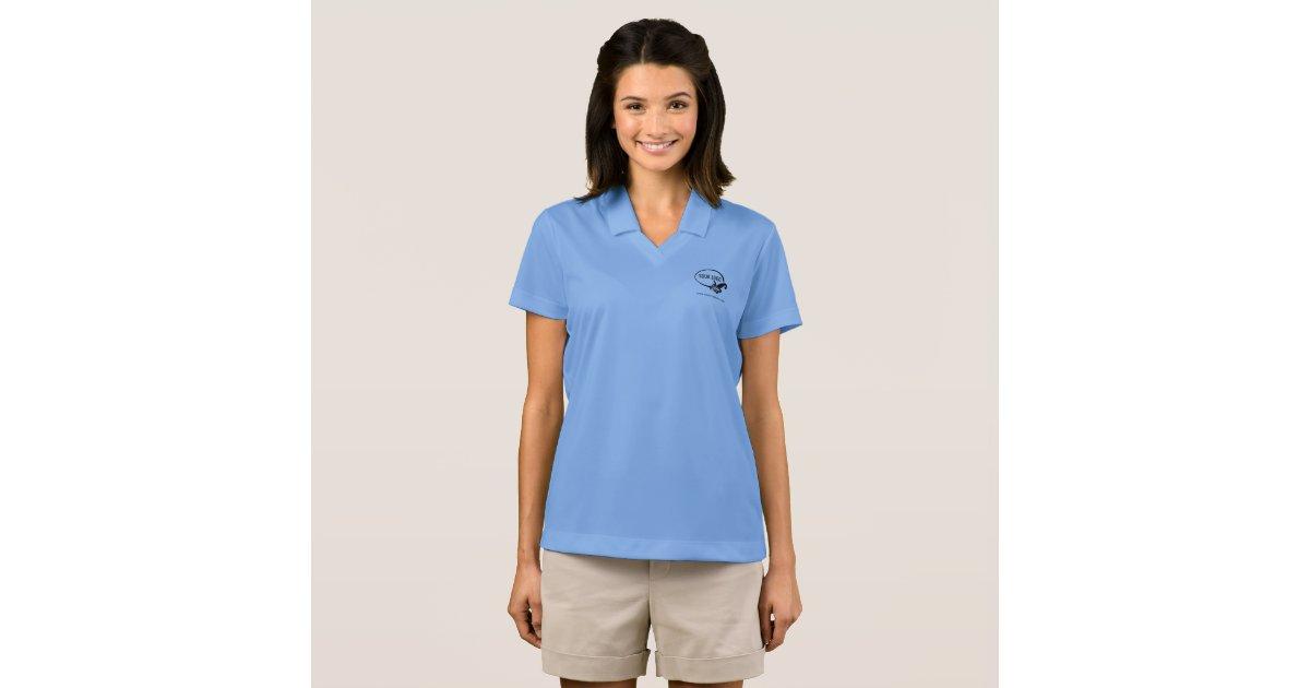 Women nike dri fit polo shirt employee staff work zazzle for Women s dri fit polo shirts wholesale
