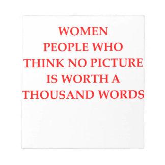 WOMEN NOTEPAD
