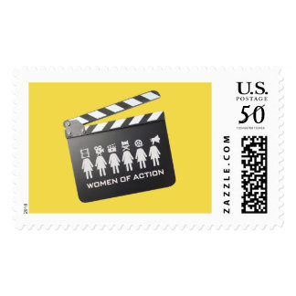 WOMEN OF ACTION postage stamp