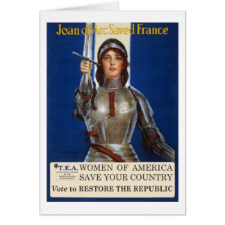 Women of America Save Your Country Vote Tea Party Card