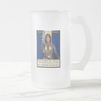 Women of America Save Your Country Vote Tea Party Frosted Glass Beer Mug