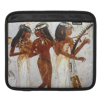 Women of Ancient Egypt playing musical instruments Sleeves For iPads