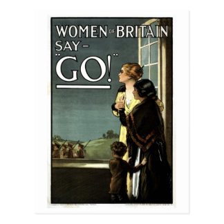 Women of Britain say GO vintage Postcard