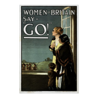 Women of Britain say GO vintage Posters