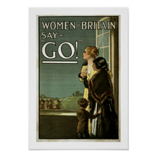 Women of Britain Say GO white Posters