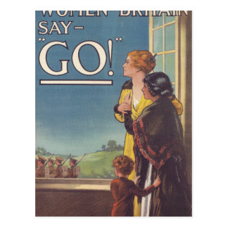 Women of Britain say_Propaganda Poster Postcard