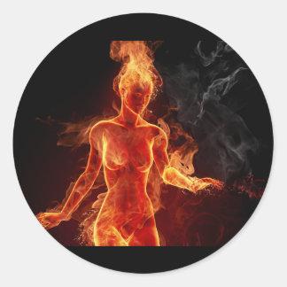 Women Of Fire Classic Round Sticker