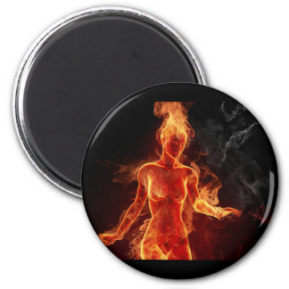 Women Of Fire 2 Inch Round Magnet