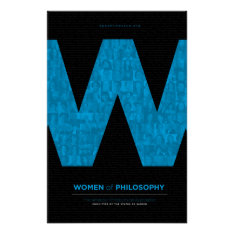 Women Of Philosophy - Blue Poster at Zazzle