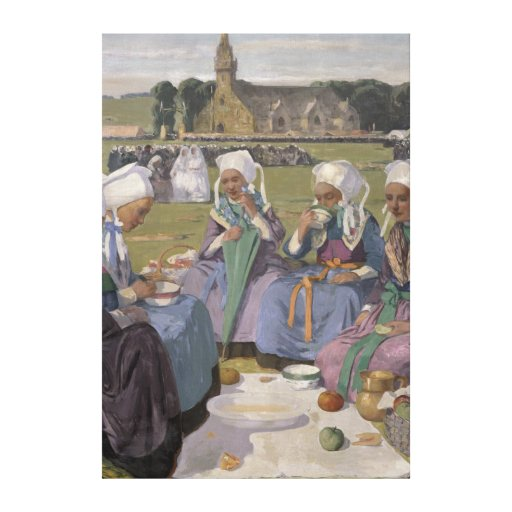 Women of Plougastel Stretched Canvas Prints